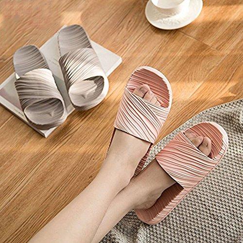 Minetom Sandales Bains Femme Salle Thongs Flip Antidérapant Femme Unisexe Plancher Rose Homme Plates Été C Flops Plage Piscine Chaussons Pantoufles de Chaussures Gym 6xB6zwar