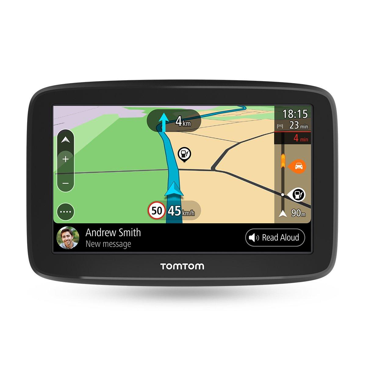 TomTom GO Basic Pkw-Navi (5 Zoll, mit Updates ü ber Wi-Fi, Lebenslang Traffic via Smartphone und EU-Karten, Smartphone-Benachrichtigungen, resistivem Display) 1BA5.002.01