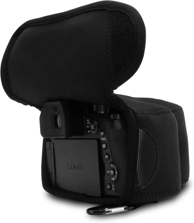 Panasonic Lumix DC-FZ1000 II MegaGear Custodia in Neoprene compatibilie con Leica V-Lux 5