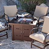 Outdoor Fire Pit Table Patio Deck Backyard Heater LP Propane Fireplace Furnitur .#GH45843 3468-T34562FD4173