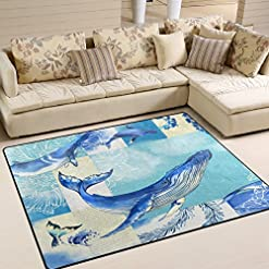 61RD4EKqtcL._SS247_ Whale Rugs and Whale Area Rugs