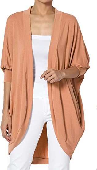 Lagenlook Style coton Cocoon Cardigan crème à rayures tailles plus 22-32