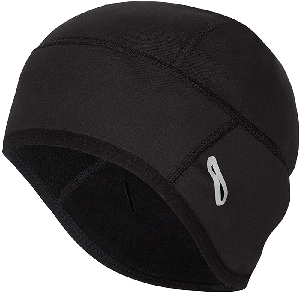 Coolchange Skull Cap Helmet Liner with Glasses Port Winter Thermal Running Beanie Cycling Cap