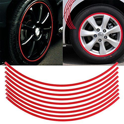 Red Motorcycle Rims - 4