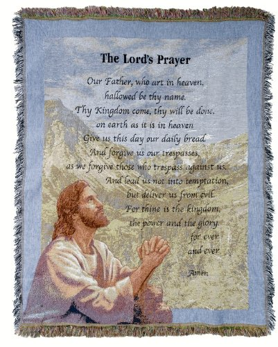 (The Lord's Prayer throw blanket )