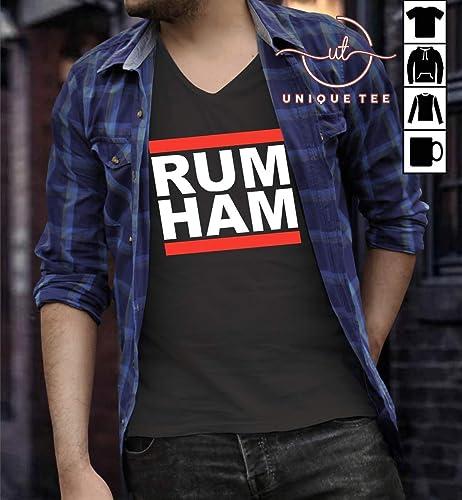 Mens Long Sleeve Cotton Hoodie Rum Ham Sweatshirt