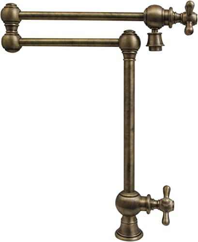 Whitehaus Collection WHKPFDCR3-9555-AB Deck Mount Pot Filler, Antique Brass