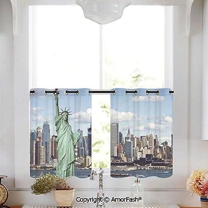 Amazoncom Amorfash New York Kitchen Curtainsmodern