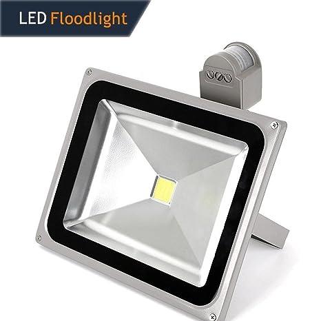 Proyector LED con detector de movimiento TechBox. 50.00W, 220.00V