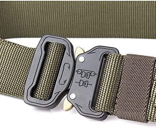 Kipove Special Forces Military Tactical Gear Nylon Belts Equipment for Swat Mens Metal Insert Buckle Belt Army Strap