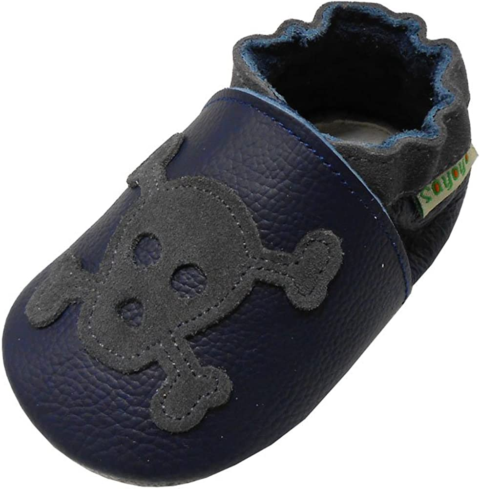 SAYOYO Unisex Baby Chick Moccasins Soft Sole Leather Toddler Shoes