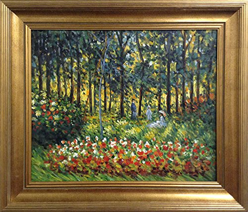 Clude Monet La Famille D'Artiste FRAMED Original Oil Painting Art by Framed Art by art4cheap