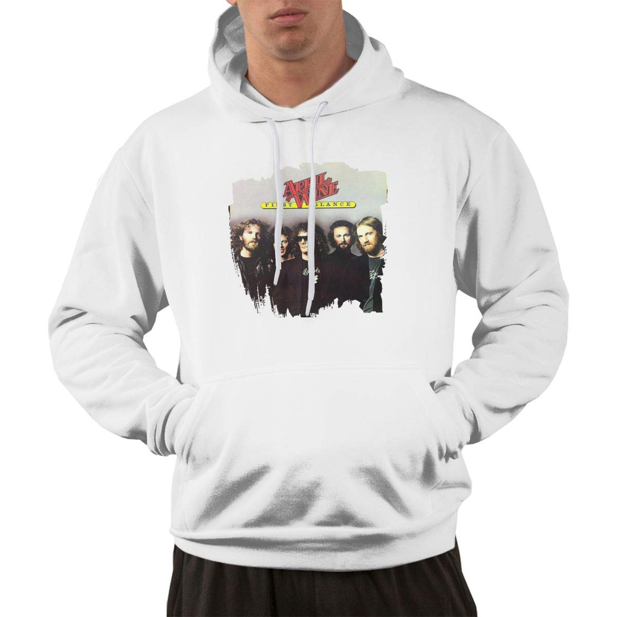 Erman Pullover Warm Print April Wine Music Band Hooded Shirts With Pocket L