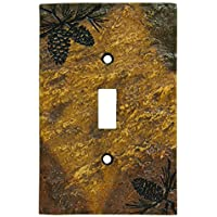 Big Sky Carvers 30170447 Pinecone Single Switch Plate by Big Sky Carvers