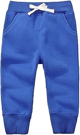 GGTFA Pantalón Corto Niño Pantalón Largo Tracksuit elástico Cinturon de Algodón Sudadera Pantalones 1-5 años