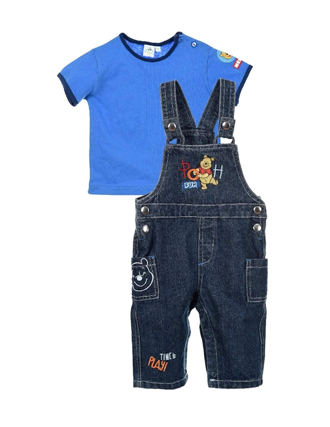 Winnie l'ourson Baby Boys' Dungarees Winnie L' ourson E2PC-BG-WIN-AQE0043