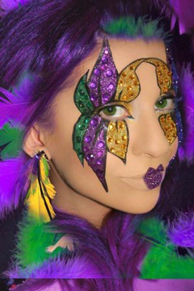 Amazon Mardi Gras Eye Face Makeup Kit Eye Glitter And