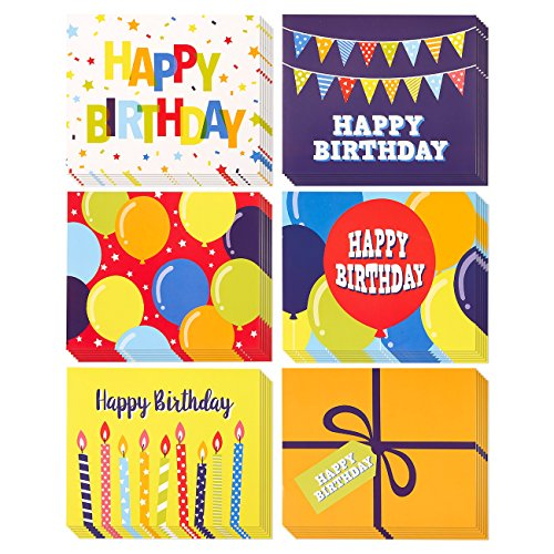(Wine Bottle Labels - 36-Pack Birthday Wine Bottle Labels, Includes 6 Colorful Birthday Designs, 6 of Each, Party Supplies, 7 x 5.7 Inches)