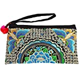 Sabai Jai - Smartphone Wristlet Bag - Handmade Embroidered Boho Clutch Wallets Purses