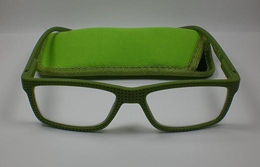 Designer Occhiali da lettura + 2,0diop. per lui & lei Verde Piuma cinghia tracolla da lettura di alta qualità