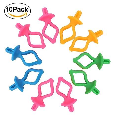 Abrazaderas de clip para máquina de coser, accesorios coloridos de silicona, varios colores
