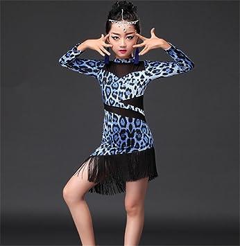c0147b73e peiwen Kids Latin Dance Dresses/Girls Dance Show Costume: Amazon.co ...
