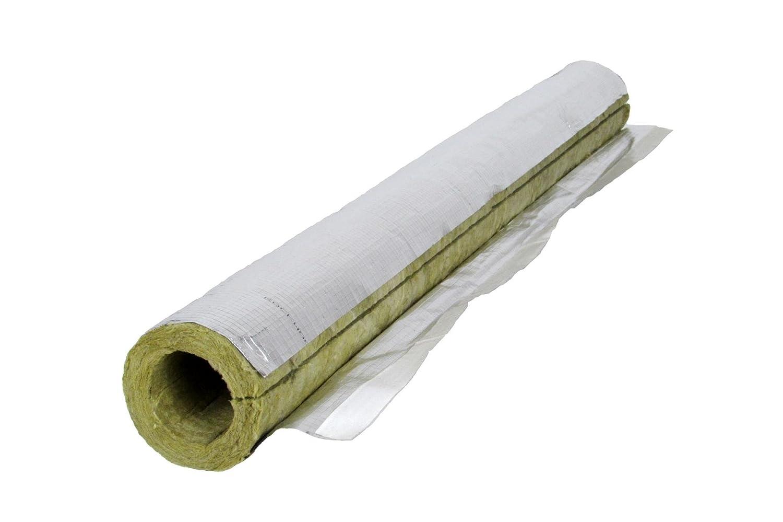 lana mineral, lacado en aluminio, 22 x 20 mm Aislante de tuber/ía Rockwool 800