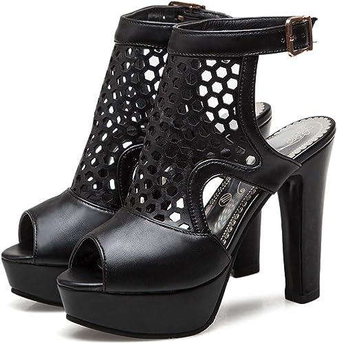 Ladies Peep Toe Sling Back Heel Vented Cut Out Sandal Heel Black Suede