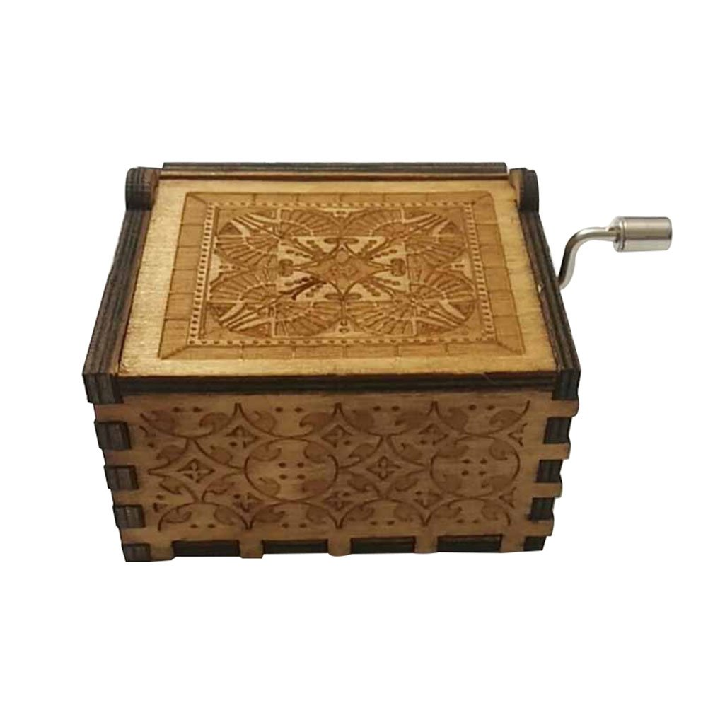 FORUSKY Hand Cranking Carved Game of Thrones Wood Music Box for Home Decoration Crafts,Toys,Gift by FORUSKY (Image #3)