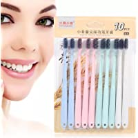 Cepillo de dientes de paja de trigo, 10pcs Cepillo de dientes de paja de trigo Cepillo de dientes de bambú suave colorido Cuidado de la salud bucal
