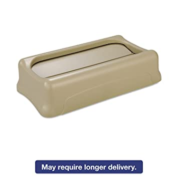 rubbermaid 267360bei Slim Jim Swing lid, 11 3/8w x 20 1/2d x 5h, Beige