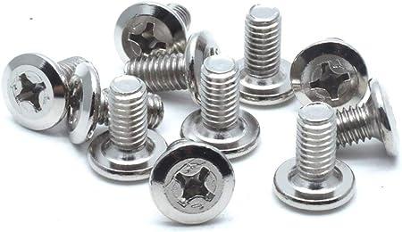 Fullerkreg Passivated 18-8 Stainless Steel Phillips Flat Head Screw M4 x 0.7 mm Thread 12 mm Long,Packs of 100