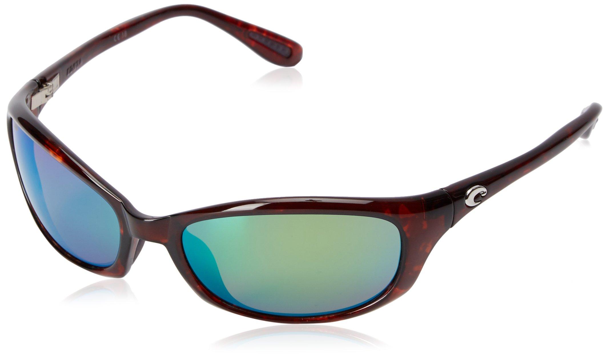 Costa Del Mar Harpoon Sunglasses, Tortoise, Green Mirror 580 Plastic Lens, 61.5 mm by Costa Del Mar