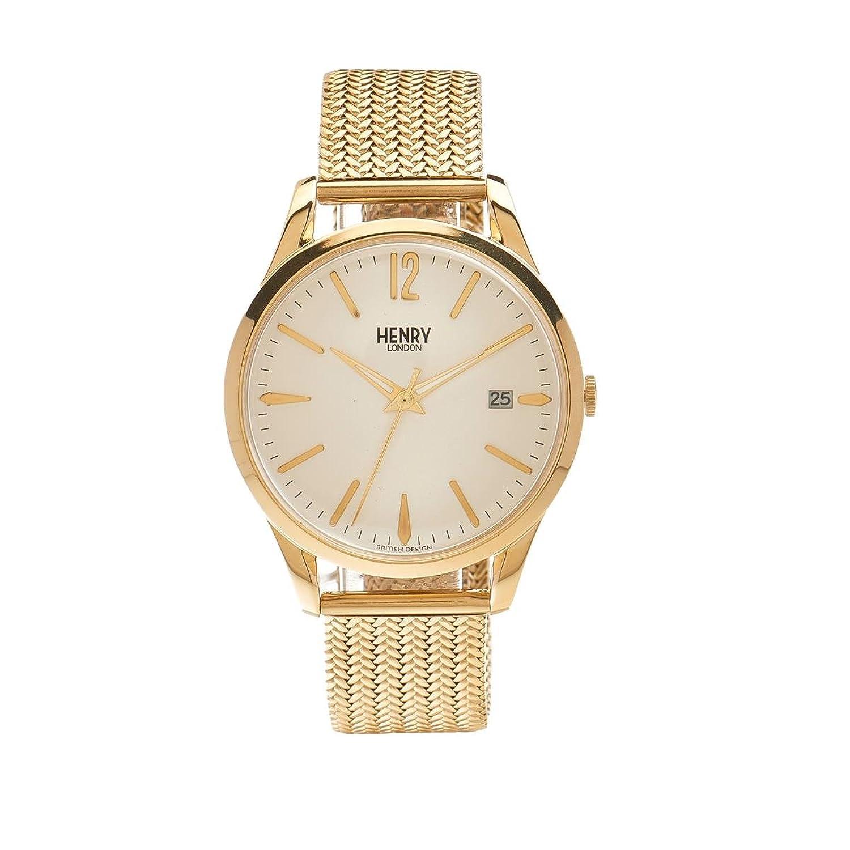Henry London Unisex-Armbanduhr Westminster Analog Quarz Edelstahl HL39-M-0008