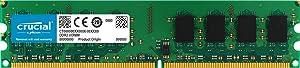 Crucial 2GB Single DDR2 667MHz (PC2-5300) CL5 Unbuffered UDIMM 240-Pin Desktop Memory Module CT25664AA667
