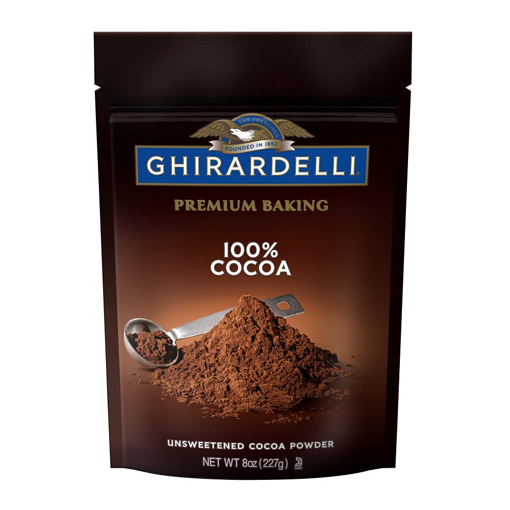 Ghirardelli 100% Unsweetened Ground Cocoa | 8 oz. | Baking & Desserts