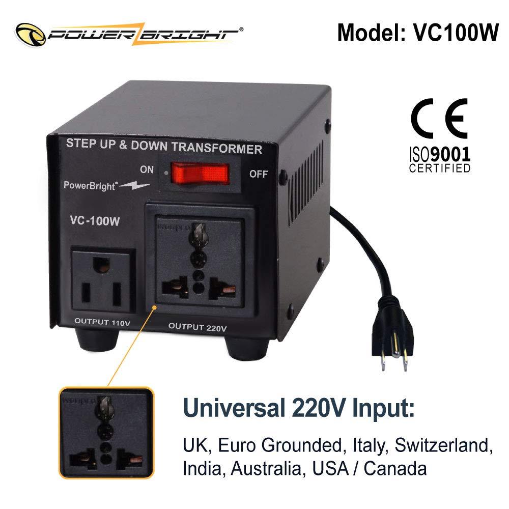 Power Bright Vc100w Voltage Transformer 100 Watt Step Supply Regulator Circuit Newhairstylesformen2014com Up Down 110 Volt 220 Converters Garden Outdoor