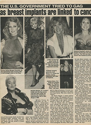 Breast Implants in Hollywood original clipping magazine photo 2pg 9x12 #R3814