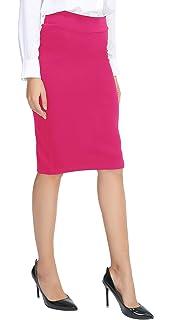 621cdd3ca Amazon.com: XOXO Women's 26 Inch Knit Pencil Skirt, Yellow, X-Large ...