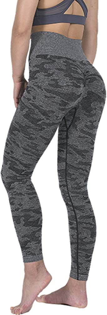 Yoga Pants Gym Fitness Sports Leggings Elastic Running Trouser Grey Black