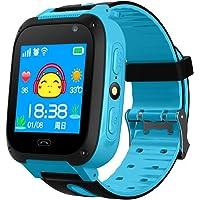 Reloj inteligente con podómetro y pantalla táctil, impermeable, con rastreador GPS, cámara y SIM anti-pérdida, para…