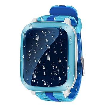 duwin 2017 de teléfono inteligente de los niños reloj impermeable Nuevo Color de posicionamiento GPS pantalla