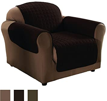 Innovative Textile Microfiber Chair Furniture Protector, Chocolate