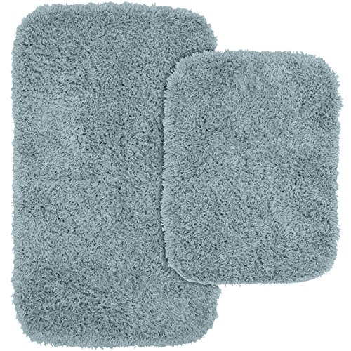 [해외]Garland Rug 2 피스 재규어 Shaggy Washable 나일론 욕실 깔개 세트/Garland Rug 2-Piece Jazz Shaggy Washable Nylon Bathroom Rug Set