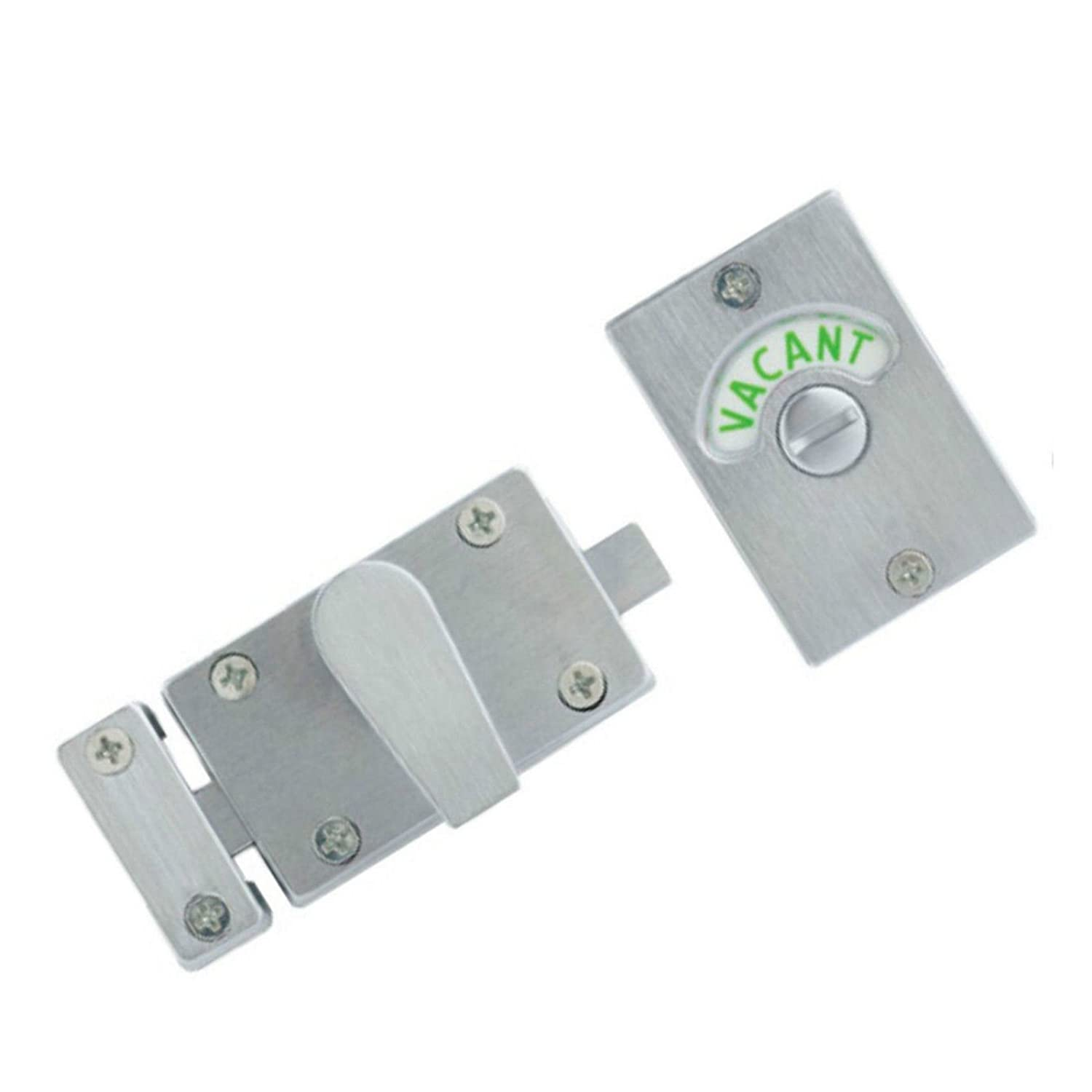 SATIN NICKEL - SN Indicator Bolt with Vacant / Engaged Bathroom Toilet Door Lock ChoicefullBargain