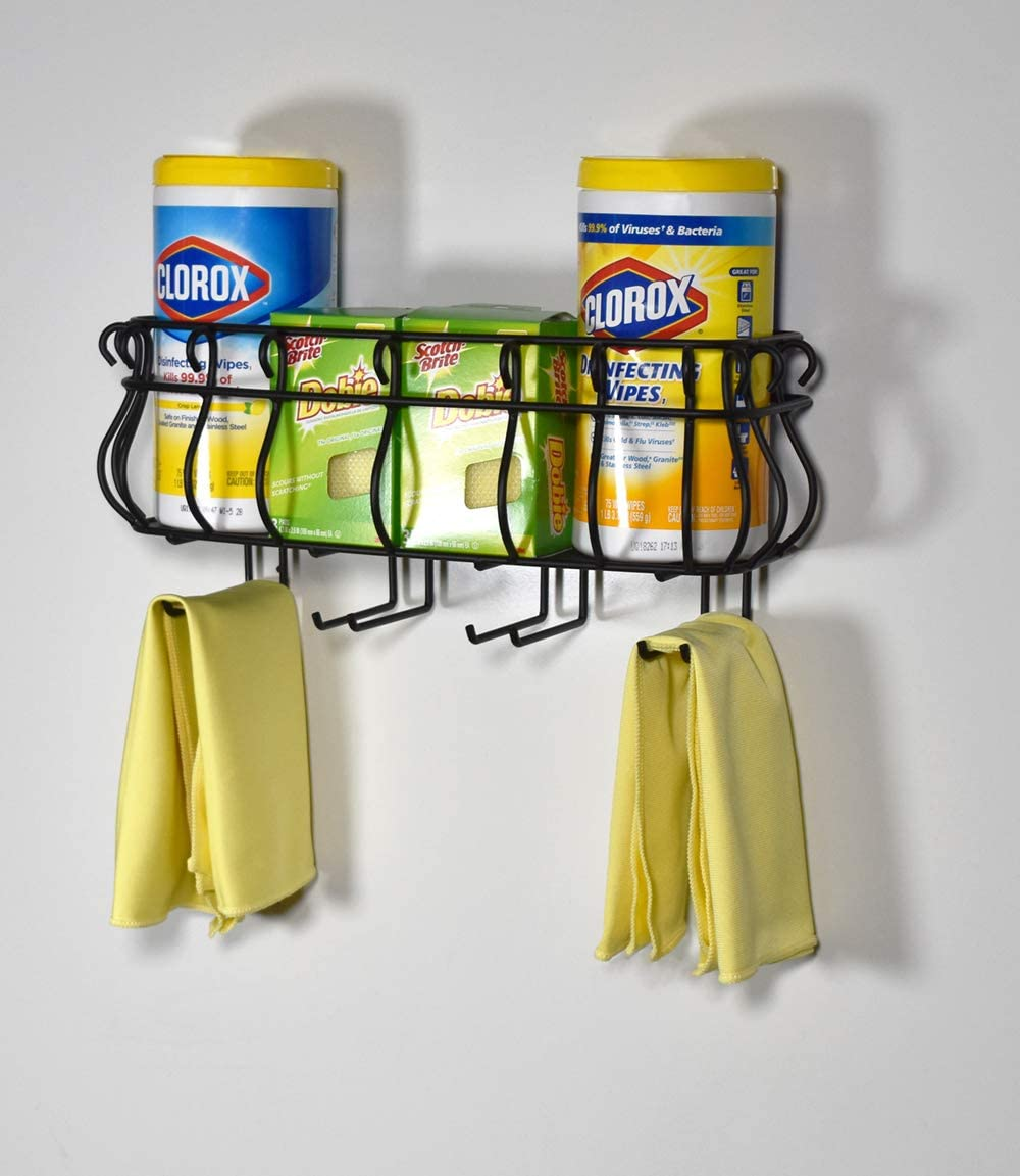 Mango Steam Wall Mounted Kitchen /& Bath Rack