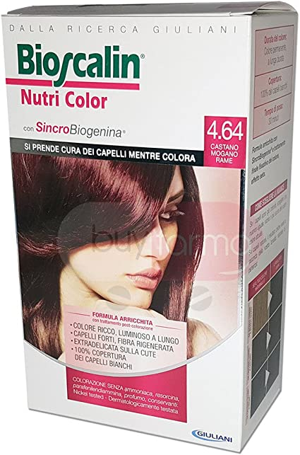 Nutri color tinte para cabello n.4.64 Castaño Caoba Cobre