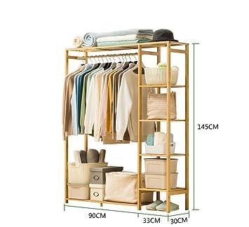 FYPyma kleiderablage Schrank einfache Massivholz Garderobe ...