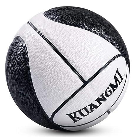 Kuangmi - Balón de Baloncesto, Talla 7, Color Negro y Blanco ...