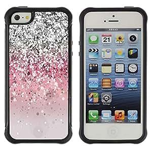 Suave TPU GEL Carcasa Funda Silicona Blando Estuche Caso de protección (para) Apple Iphone 5 / 5S / CECELL Phone case / / Glitter Bling Silver Pink Light /